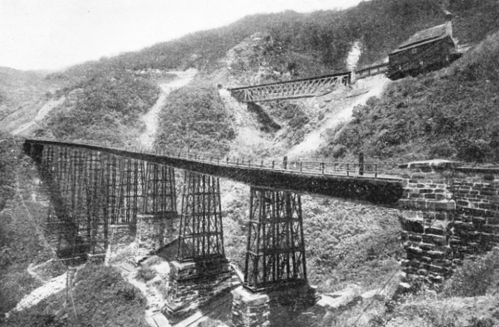 Two of the Viaducts on the Serra do Mar Inclines, Sao Paulo Railway