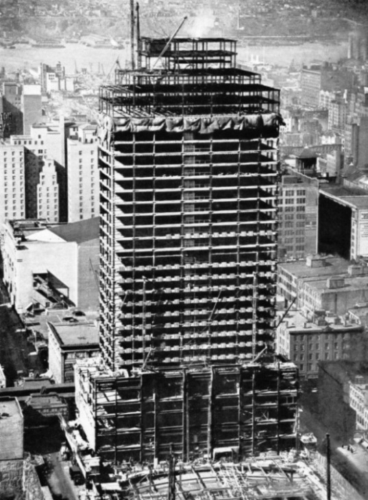 The RKO Building under construction