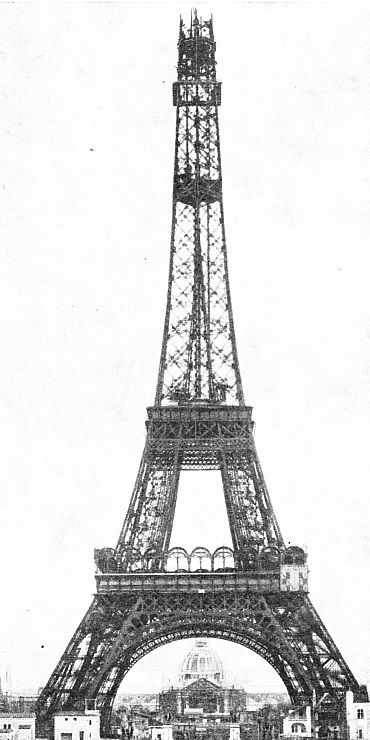AT THE TOP of the Eiffel Tower was built a platform 53 feet square
