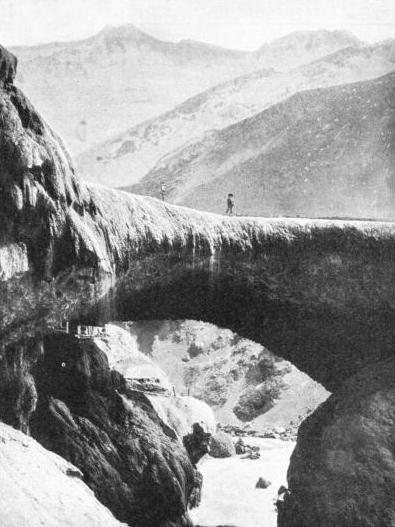 PUENTE DEL INCA, or the Inca's Bridge, a natural bridge at the beginning of the dreaded Cumbre Pass