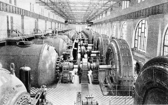 TURBINES AND ALTERNATORS in Trollhattan Power Station, Sweden