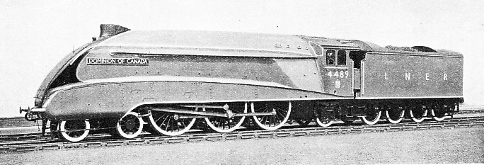 """DOMINION OF CANADA"", one of five LNER A4 Pacifics entrusted with the haulage of the ""Coronation"""