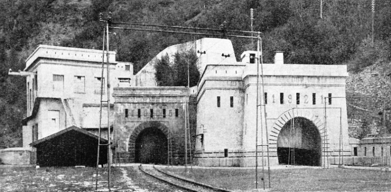 THE SWISS ENTRANCE to the Simplon Tunnel, which links Switzerland and Italy