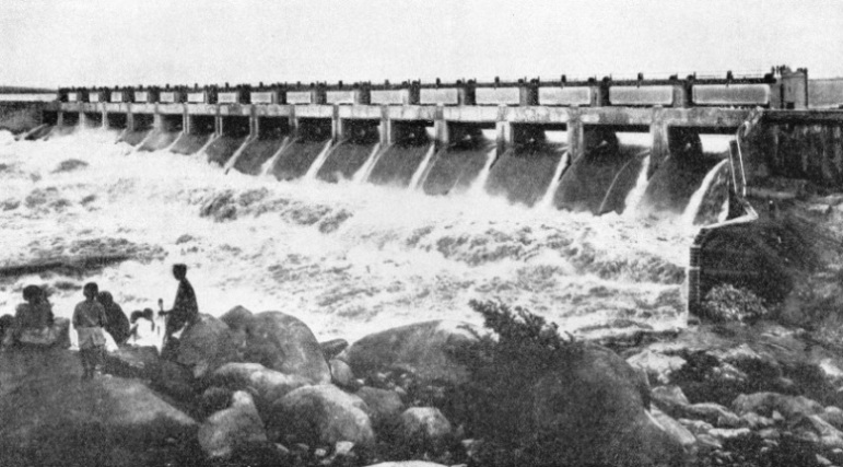 NIZAMSAGAR DAM, built over the River Manjra, is part of a huge irrigation scheme