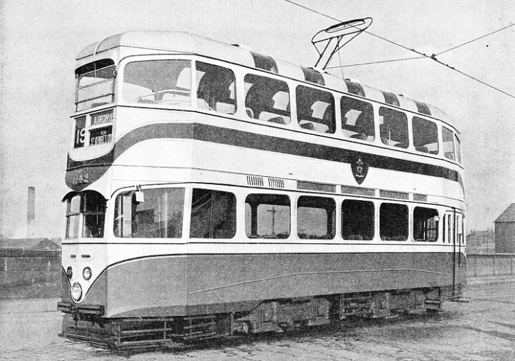 EXPERIMENTAL TRAMWAY CAR built by the Glasgow Corporation Transport Department
