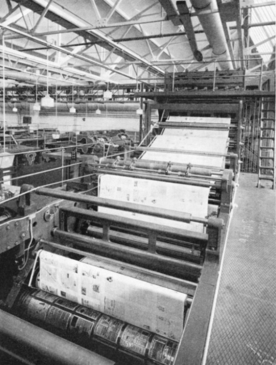 TWO PAIRS OF TYPE CYLINDERS form one of the five printing units in each press at Park Royal Works