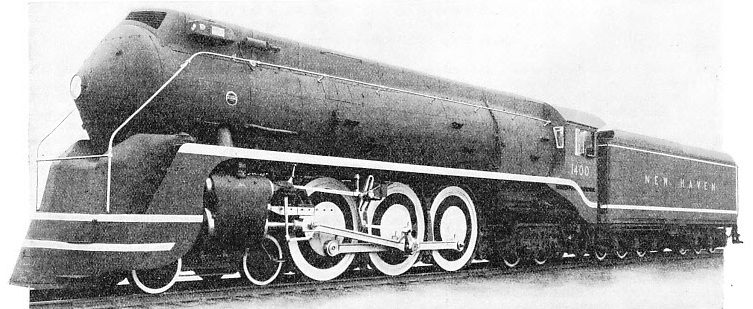 Passenger Express Locomotive Built for the New York, New Haven & Hartford Railroad