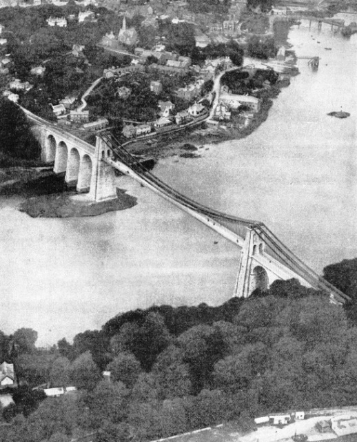 The suspension bridge across the Menai Straits