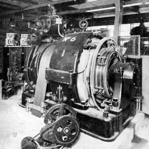 THE MACHINERY CHAMBER for the automatic lifts at Goodge Street Station