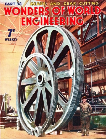 a set of immense gearwheels, designed for a large crane
