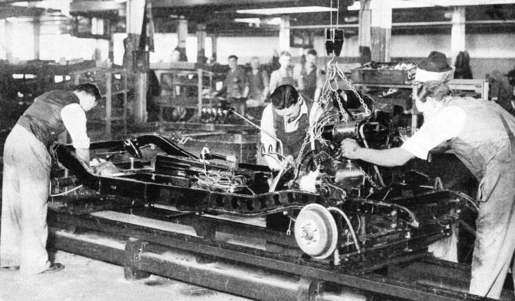 The Main Assembly Line in the Morris Works