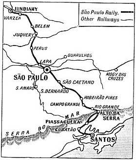 THE ROUTE OF THE SAO PAULO RAILWAY