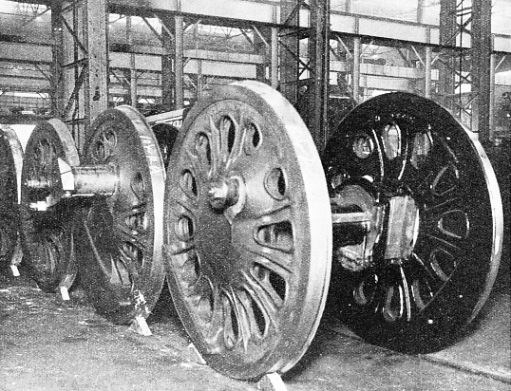 DRIVING WHEELS of a type recently designed for large American locomotives