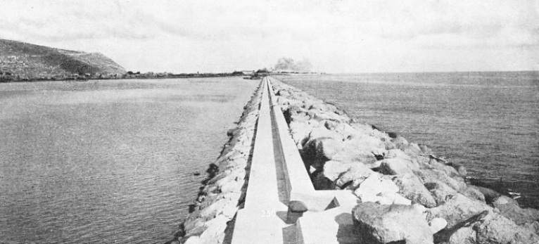 THE COMPLETED MAIN BREAKWATER at Haifa