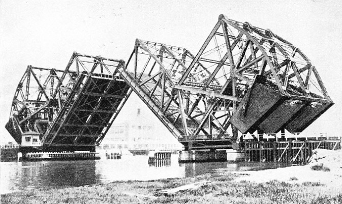 Double-Bascule Bridge Near Los Angeles
