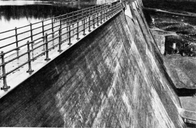 THE CONCRETE WEIR which dams the Helena River