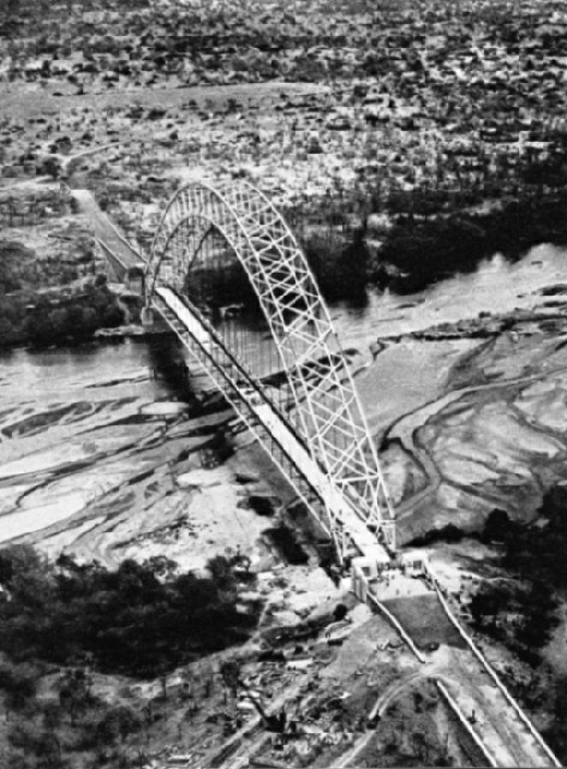 The Birchenough Bridge from the air
