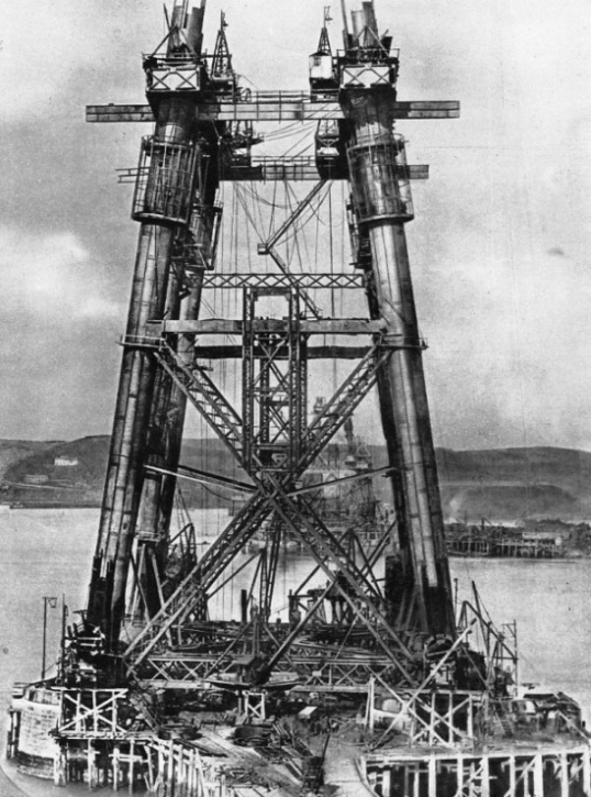 "The Tapering ""uprights"" of the central towers of the Forth Bridge"