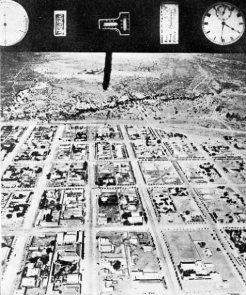 AN AERIAL PHOTOGRAPH taken during a survey of Bulawayo, Southern Rhodesia