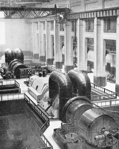 The main turbine hall at Battersea Power Station