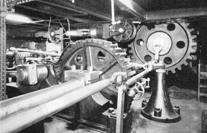 Hydraulic machinery operating the bascules of Tower Bridge